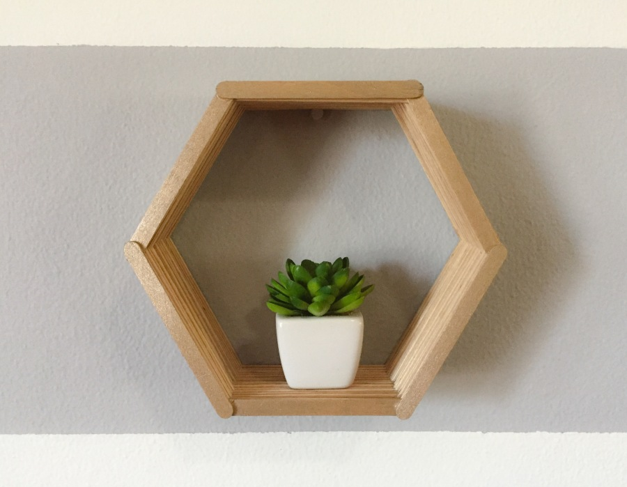 Hexagon Shelf Diy Surrounding Style